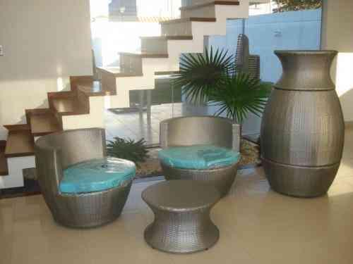 Muebles Exterior Rattan Free Juego De Living Rattan Aluminio Jardin