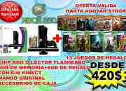 xbox 360 slim 4gb  con/sin kinect con chip RGH o Flasheado