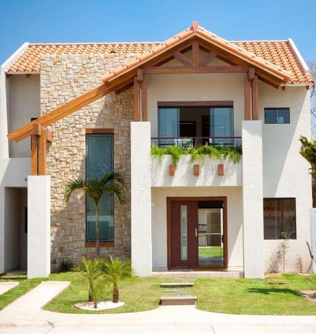 Casas de ladrillo related keywords casas de ladrillo for Casas con fachadas bonitas