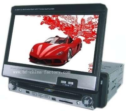 """7"""" totalmente motorizado dvd car multimedia con gps navegación"""