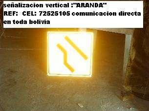 Señales viales para carreteras fabricadas en bolivia