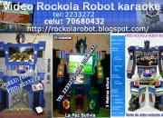 VIDEO ROCKOLAS ROBOT KARAOKE  VENDO