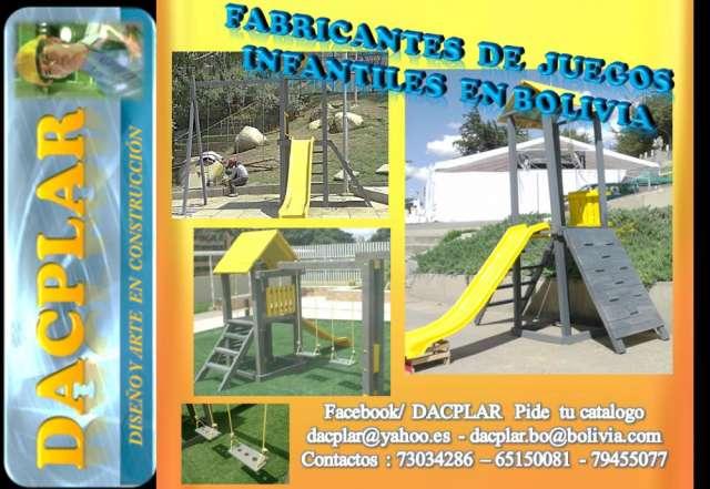 Parques infantiles toboganes hechos en bolivia
