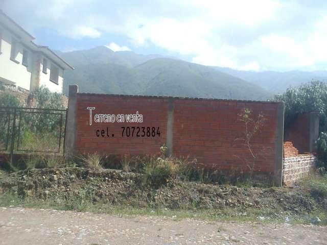 Terreno de 378m2 amurralado, zona huayllanicochabamba bolivia