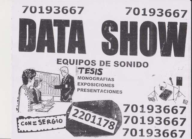 Data show y equipos multimedia