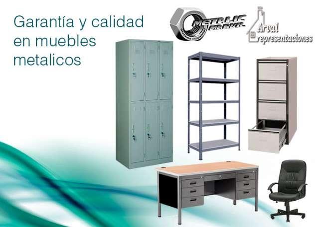 Muebles metalicos, vitrinas, estantes, escritorios, sillas, mesas y mobiliario metalico en general
