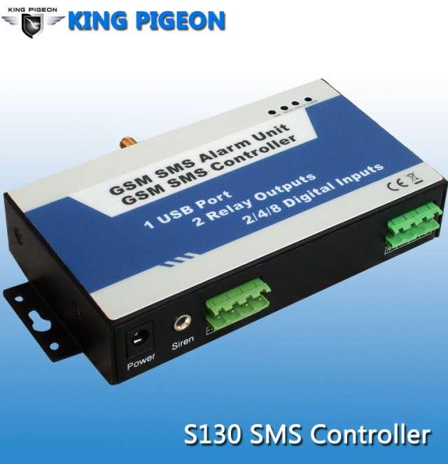 Controlador gsm sms,dos relé para encender / apagar el sistema, las máquinas y los equipos