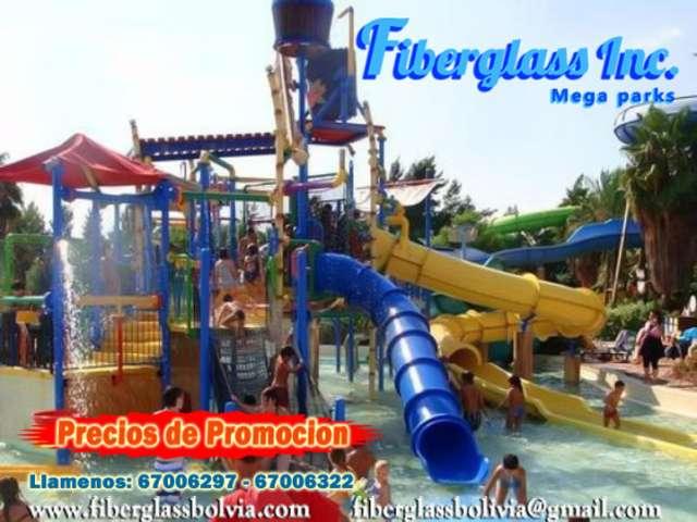 Parques infantiles, toboganes juegos varios y parques acuaticos