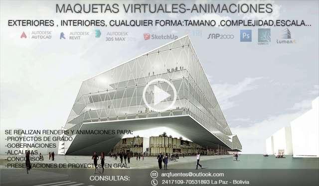 Maquetas virtuales renders animaciones proyectos arquitectonicos en 3d