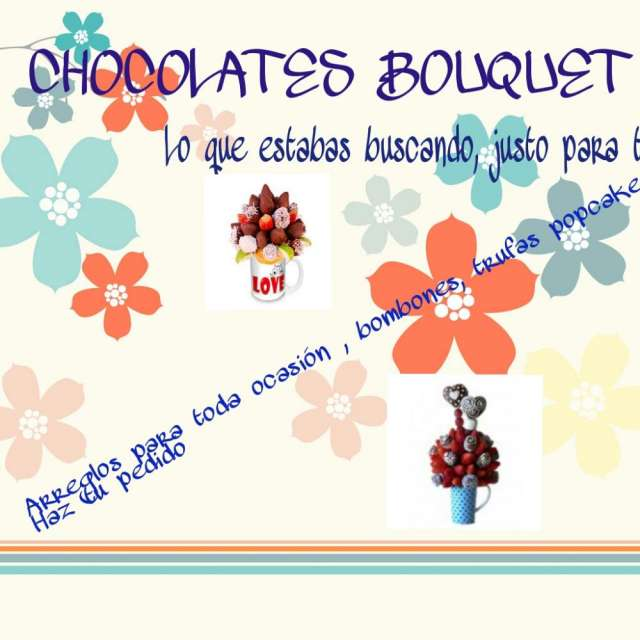 Chocolates bouquet, chocolates artesanales