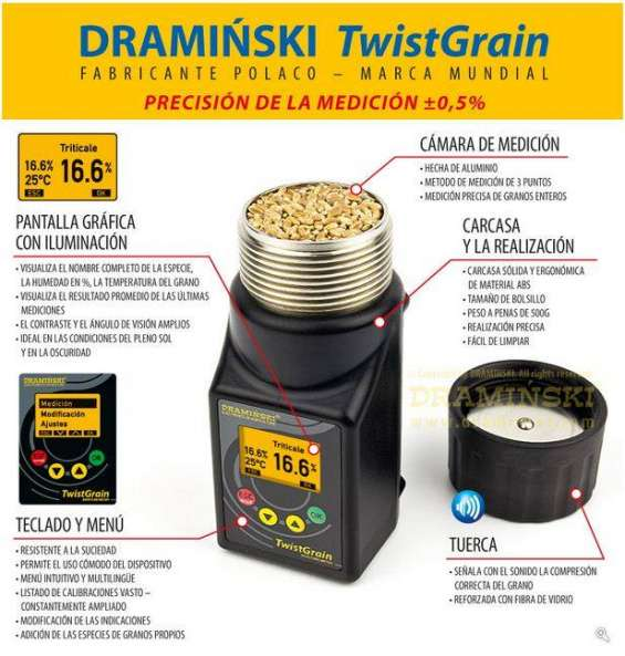 Draminski twinstgrain precisión de la medición