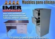 Muebles metálicos, archivadores de 2,3,4,5 gavetas, vitrinas, casilleros