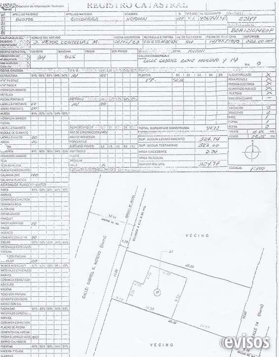 Vendo terreno de 325 mts papeles en orden