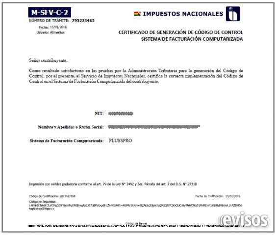 Certificado por impuestos nacionales