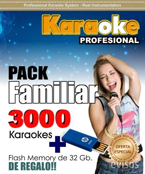 Karaoke profesional pàck familiar