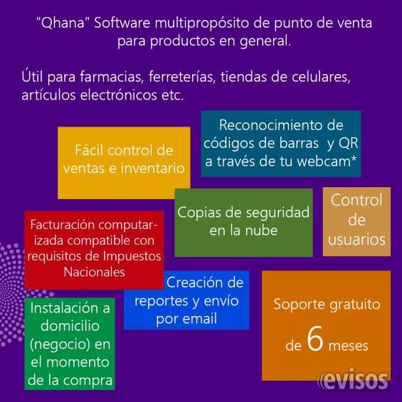 """""""qhana"""" sistema general de control de ventas y facturacion computarizada bs 180"""