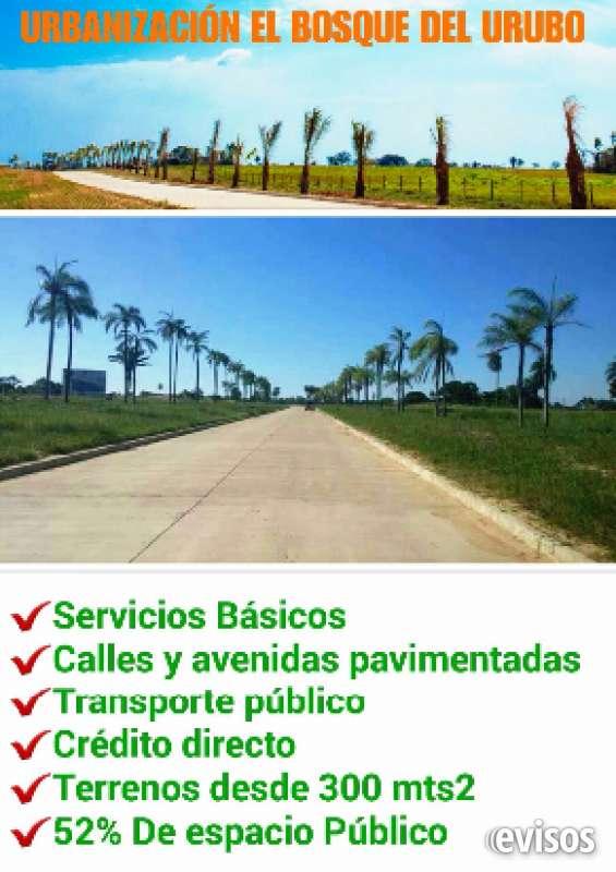 Terrenos desde $us 6.494 en urbanización totalmente pavimentada