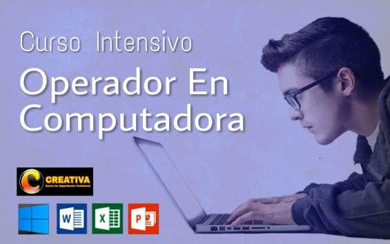 Curso de operador de computadoras en office 2019
