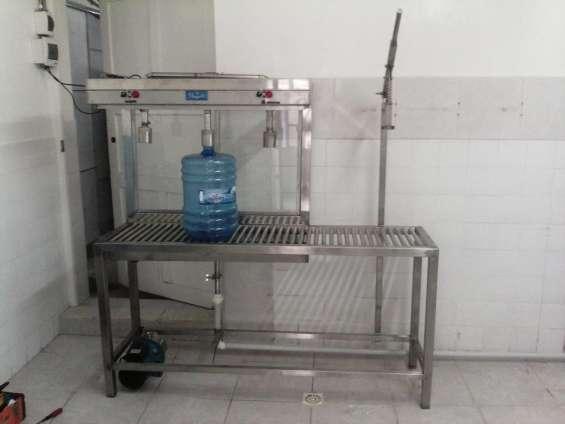 Llenadora manual de botellones de 20 litros