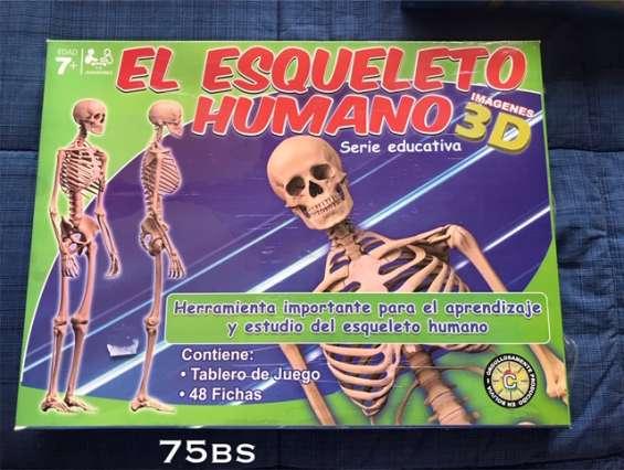 Juego instructivo - el esqueleto humano precio liquidación