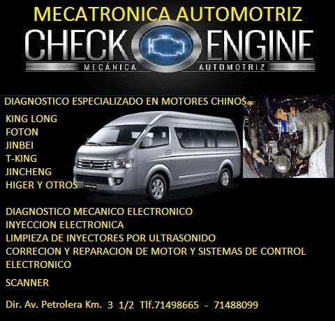 Taller mecanico electronico automotriz check engine servicios profecionales electronica y