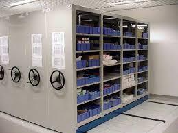 Estantes móviles para archivos