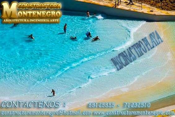 Constructora los mejores en realizar piscinas tipo playas