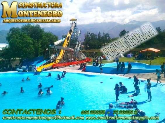 Constructora realiza los mejores piscinas tipo playa