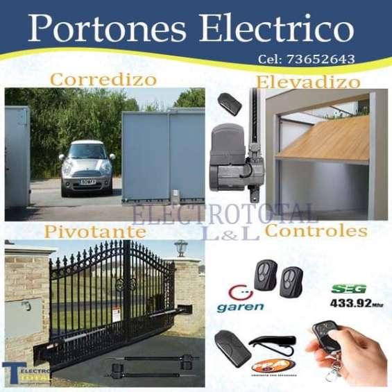 Controles para portones automáticos 73652643-scz