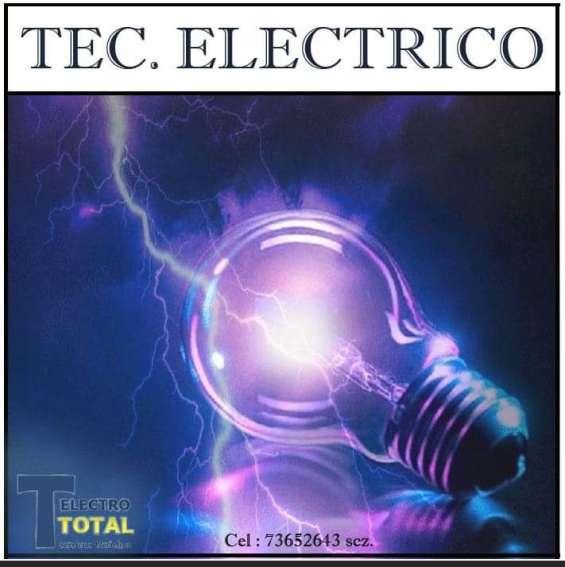 Técnico electricista : 73652643 scz