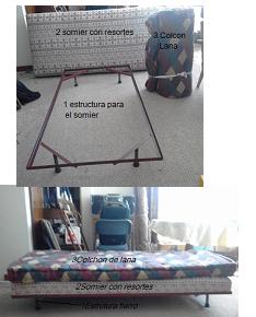 Dos camas de ocasión sin uso